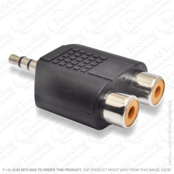 E25) AudioAdaptor p-s 3.5ster-2xPhono so