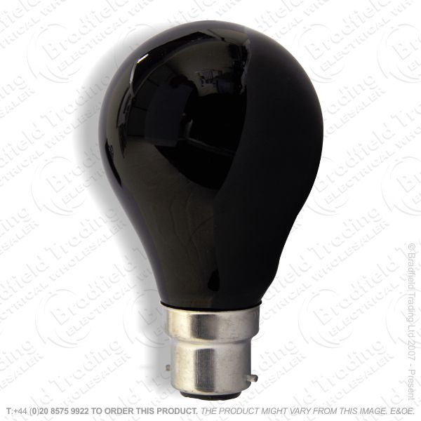 A82) GLS BC Black Light Lamp 75W