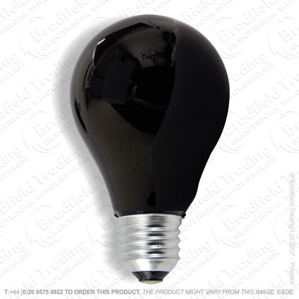 A82) GLS ES Black Light Lamp 75W