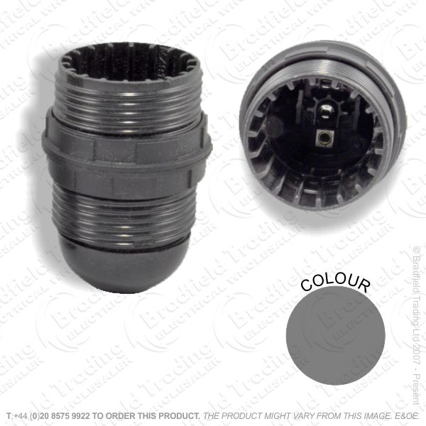 B06) Lamp Holder ES   Shade Rings Black