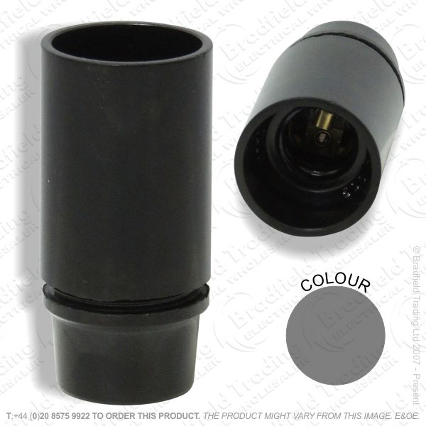 B06) Lamp Holder SES black Plastic 3part