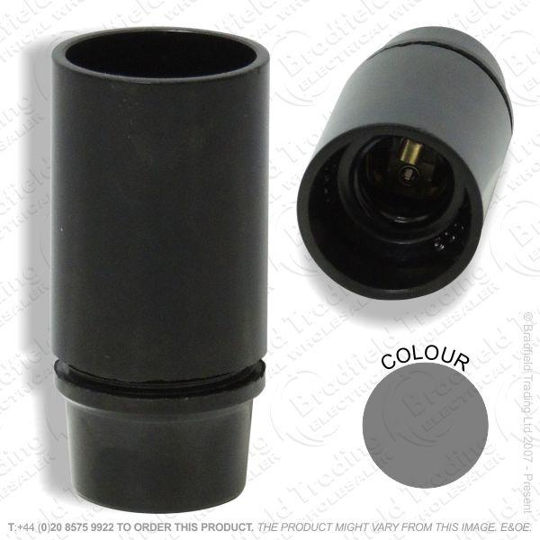 B06) Lamp Holder SES black Plastic 3part