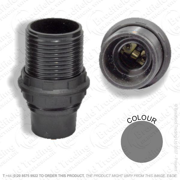 B06) Lamp Holder SES   shade rings black