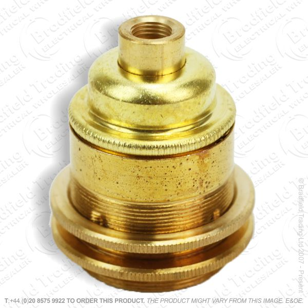 B02) Lamp Holder ES 0.5  Brass LILLEY