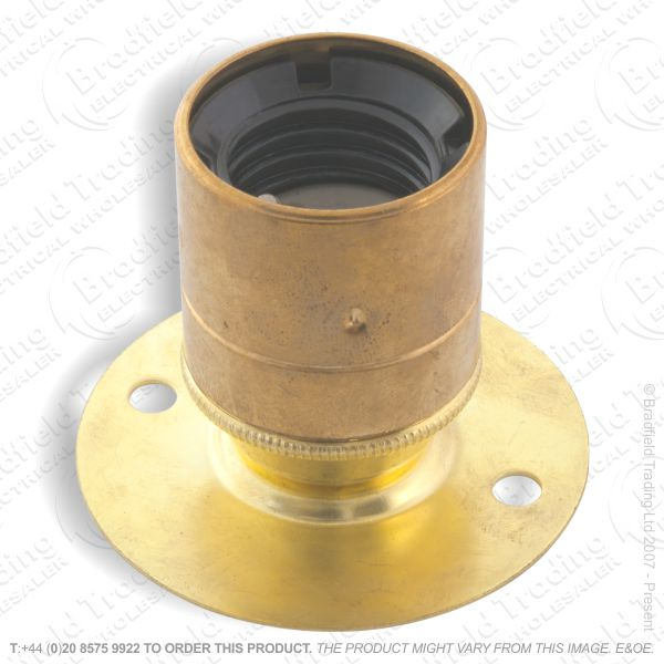 B02) Lamp Holder Batten ES brass LIL