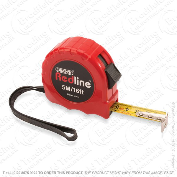 Tape Measure 5M DRAPER Red Line