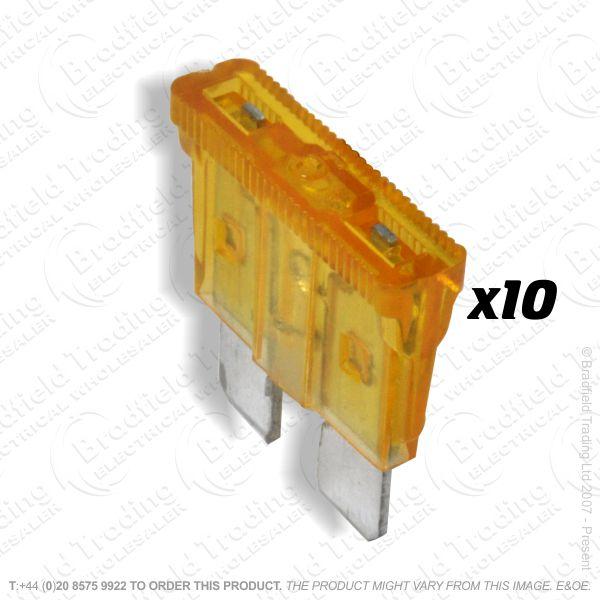 F12) Fuse Blade Type 5A Orange Car pk10