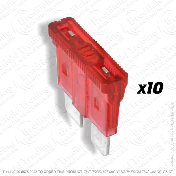 F12) Fuse Blade Type 10A Red Car Pk10