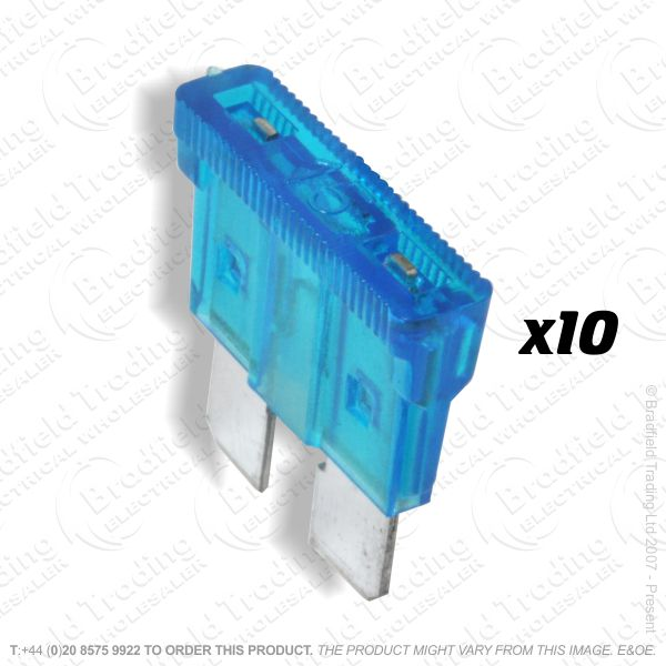 F12) Fuse Blade Type 15A Blue Car pk10
