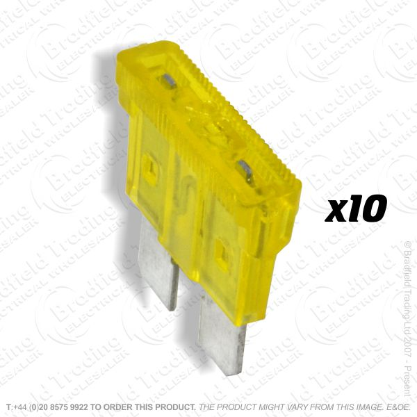 F12) Fuse Blade Type 20A Yellow Car pk10