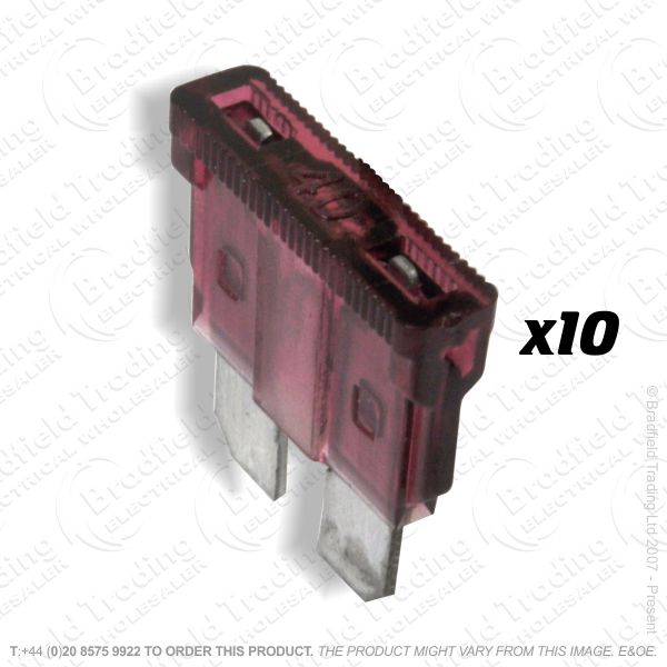 F12) Fuse Blade Type 40A Red Car pk10