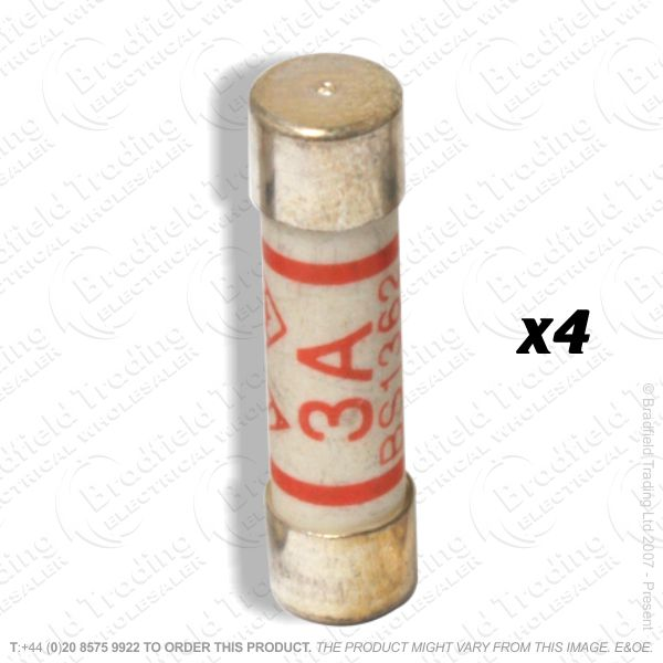 F12) Fuses Plugtop 3A  BS1362 *Card 4* F01