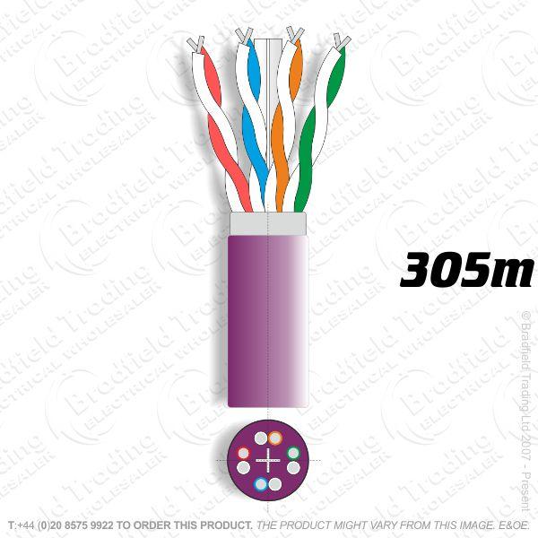 H08) Cat6a S/FTP LSZH Network 305M Shielded
