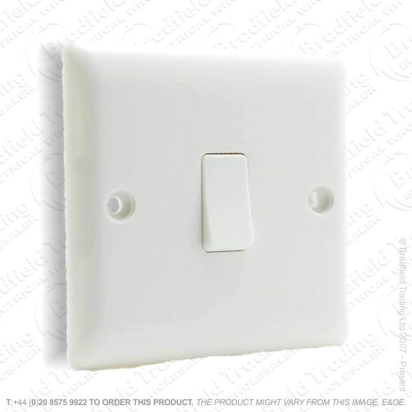 Switch 6A 1G Intermediate White Plastic BG