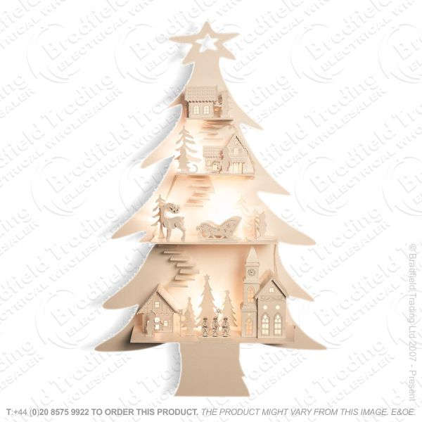 D11) Wooden LED City in Tree