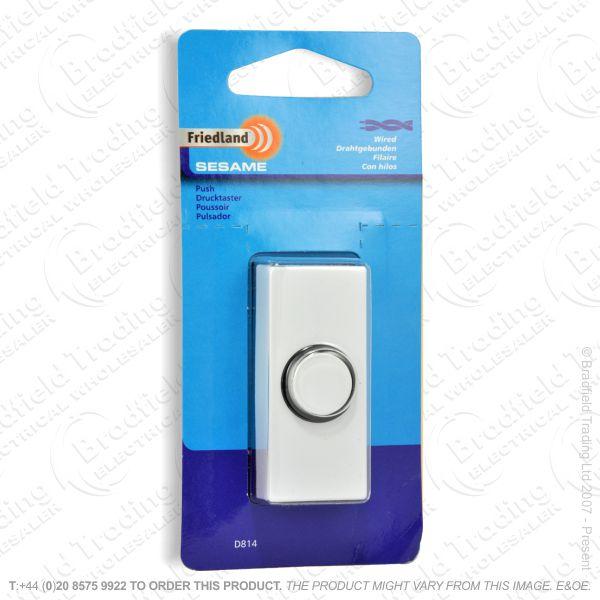 I02) Door Bell Push Sesame white FRI