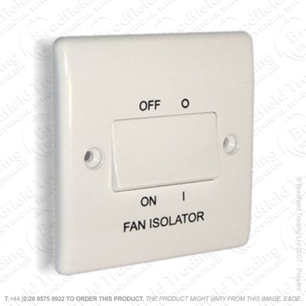 Switch Triple Pole Fan Isolator White BG