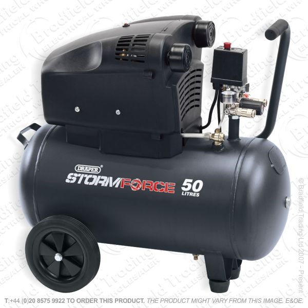 G55) Oil-Free Air Compressor 50L 1.8kW DRAPER