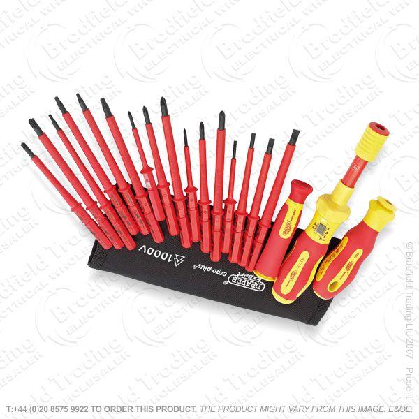 VDE Torque Ins 19pc Screwdriver Set DRA