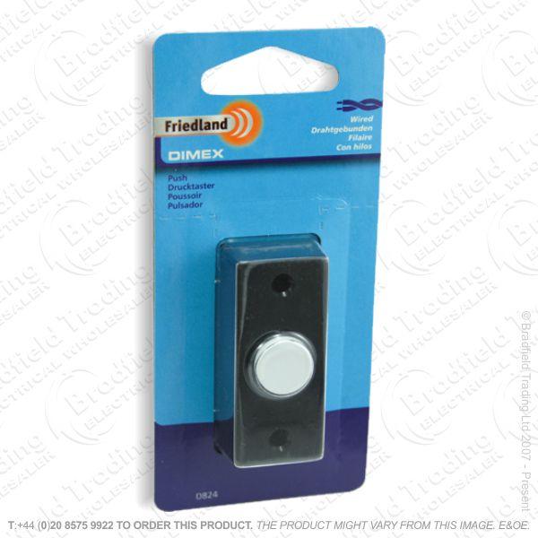 I02) Door Bell Push Dimex black FRIEDLAND