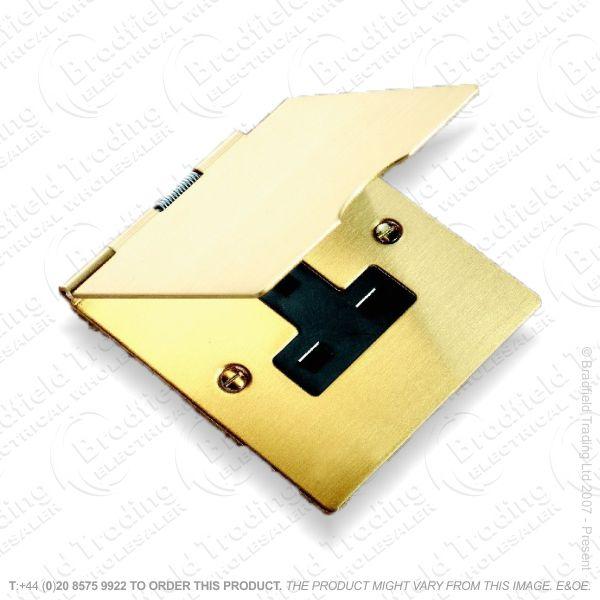 Socket Floor 1G 13A Satin Brass BI HAMIL