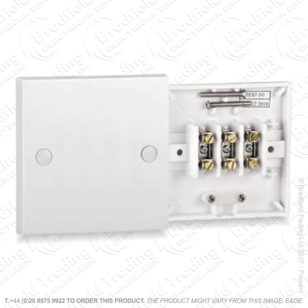 I28) Flex Outlet Plate Front 20A white