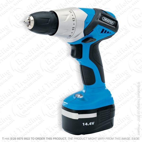 G25) Rotary Drill 14.4V 1 Battery DRAPER