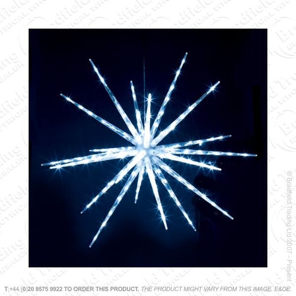 D12) 120 LED Starburst Snowflake Xmas Light