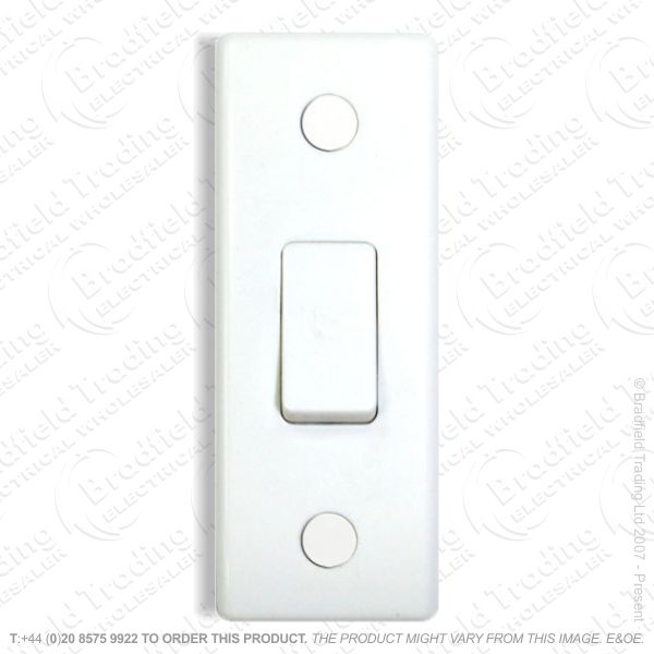 Switch Architrave 6A 1G 2w White BG