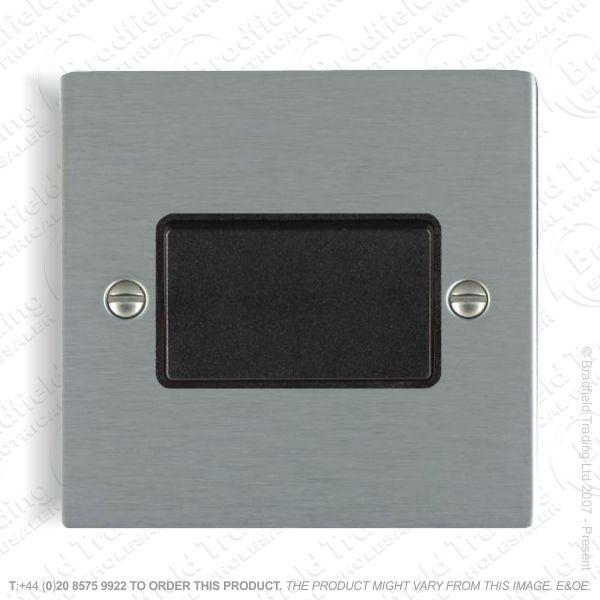 Satin steel Fan Isolator Switch Flat HAMI