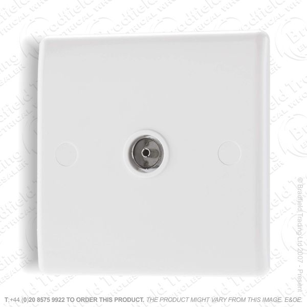 Socket TV Flush 1G white BG