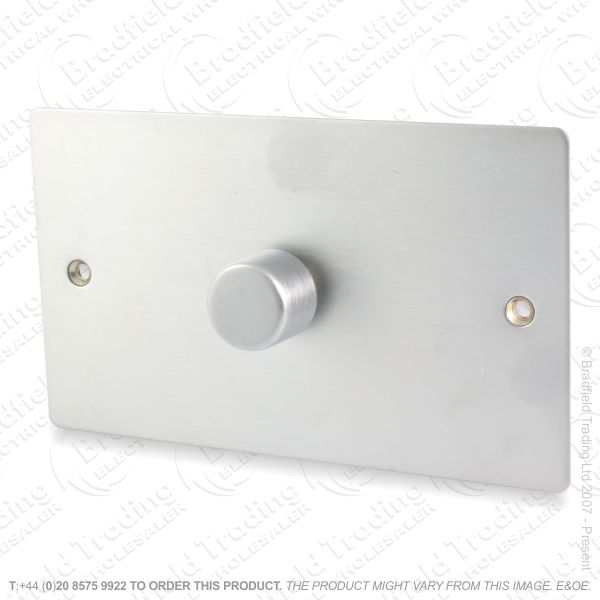 I40) Dimmer Push 1G 2w 1000W SatinChr