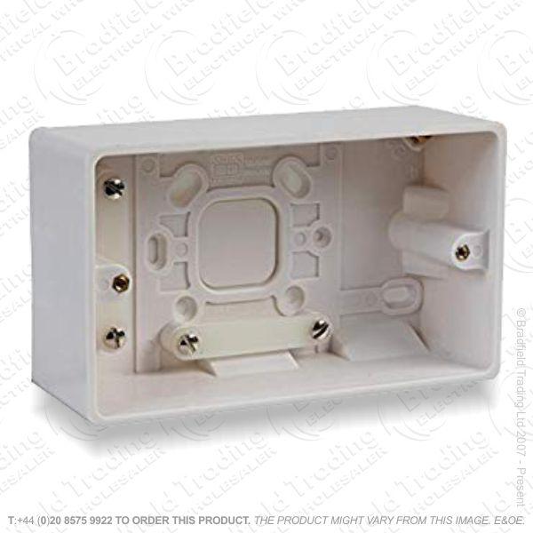Pattress Surface Box 2G 50mm BG