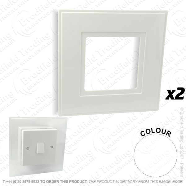 I24) Finger Plate 1G white LYVIA *Single*