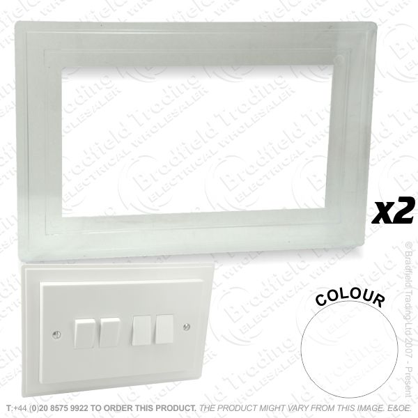 I24) Finger Plate 2G white LYVIA *Single*