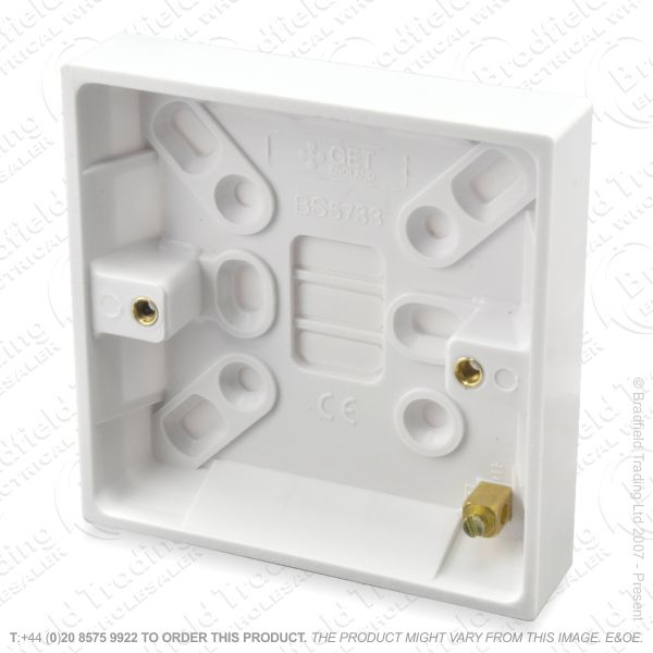 H23) Pattress Surface Box 1G 16mm BG