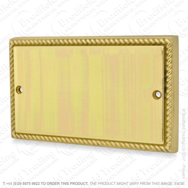 I34) Blanking Plate 2G brass RopeEdge HAM