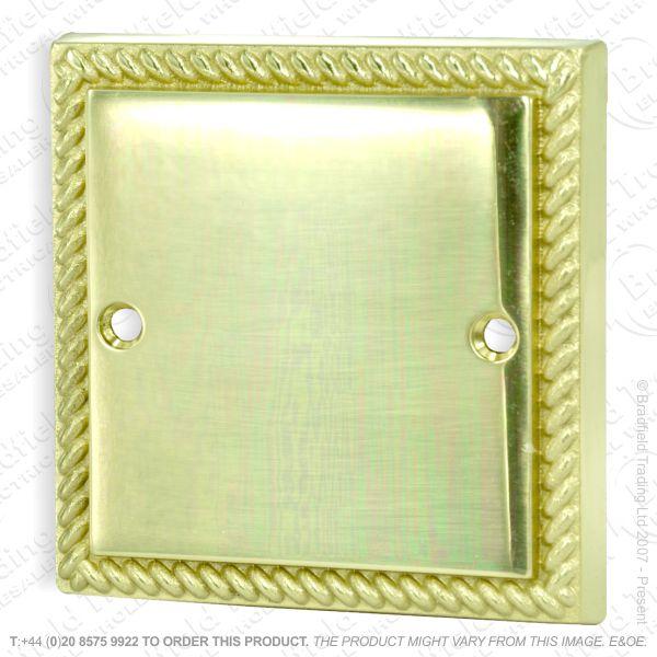 I34) Blanking Plate 1G brass RopeEdge HAMILTO