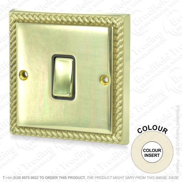 I32) Switch 1G 2w brassRE whiteIns