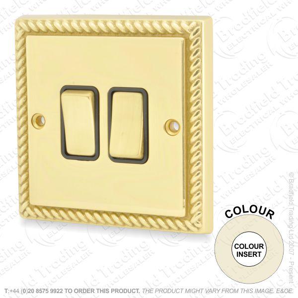 I32) Switch 2G 2w brassRE whiteIns