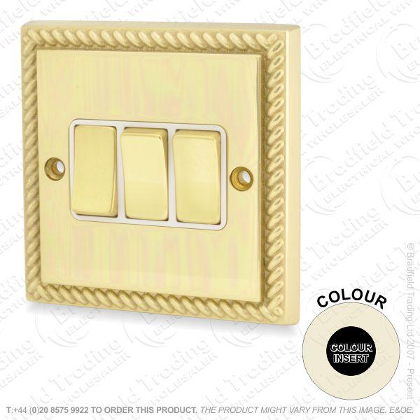 I32) Switch 3G 2w brassRE black Ins