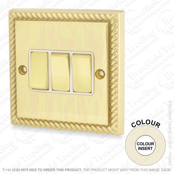 I32) Switch 3G 2w brass RE whiteIns
