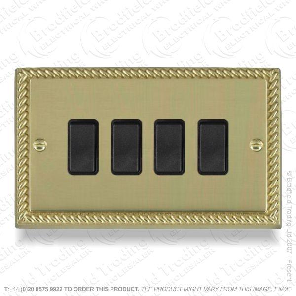 I32) Switch 4G 2w brass RE blackIns