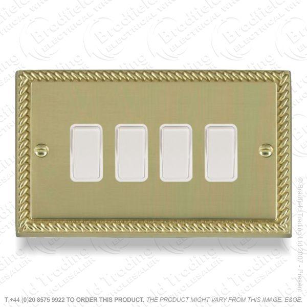 I32) Switch 4G 2w brass RE whiteIns