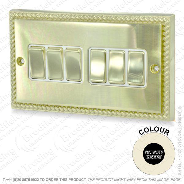 I32) Switch 6G 2w brass RE Black Ins
