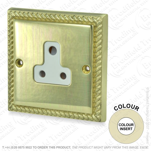 I33) Sockets Round 3pin 1G 5A brass RE WI