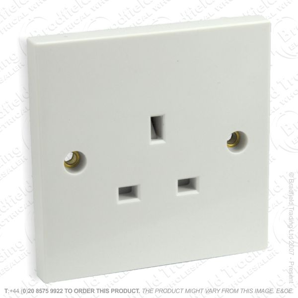 I17) Socket Unswitched 1G 13A white ECO