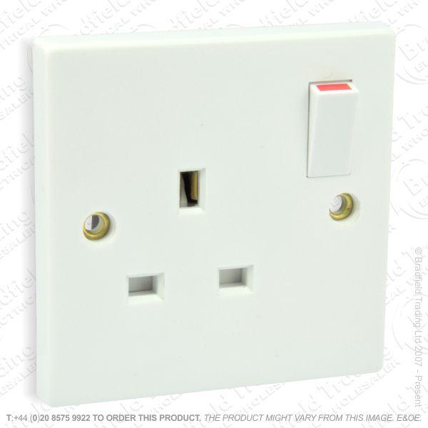 I17) Socket Switched 1G 13A white B10 ECO