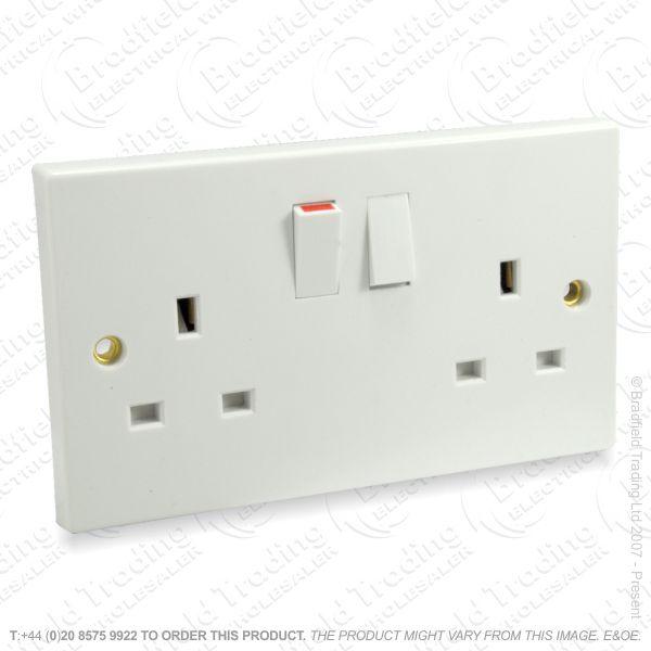 I17) Socket Switched 2G 13A white ECO