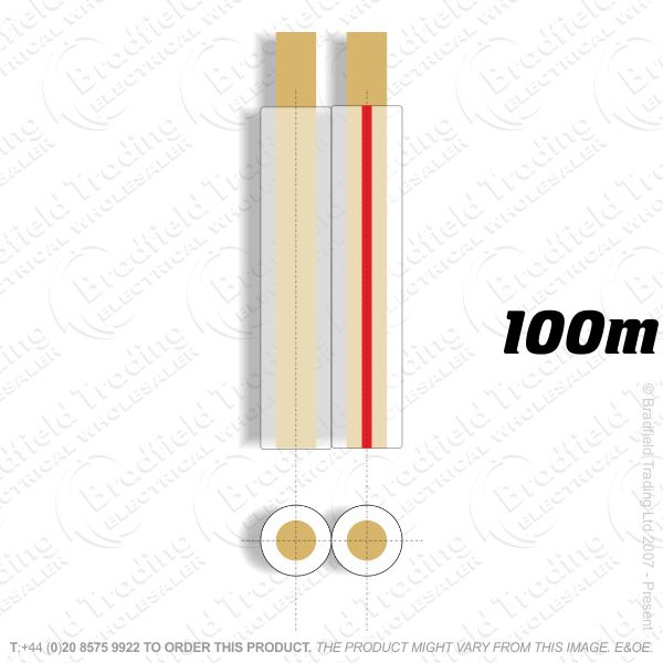 H08) Speaker Cable 92 Strand Clear 100M
